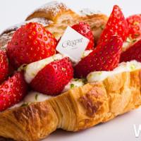 草莓控準備爆走了!堪稱草莓控必吃「小鹿家草莓四葉乳酪可頌」北上晶華,台南網路名店小鹿家快閃晶華13天。