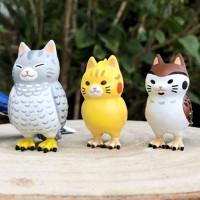 扭蛋控先尖叫一波!全新話題扭蛋「貓鳥」萌翻扭蛋控的心,台灣藍鵲、貓頭鷹、企鵝全都變貓咪。