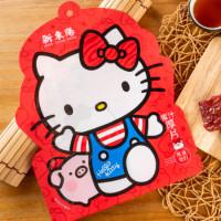 Kitty鐵粉吃起來!新東陽聯手Hello Kitty推出超萌肉乾,買五包就直接送獨家限量Kitty帆布袋。