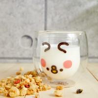 兔兔雙層玻璃杯又來了!第二彈「P助款、驚訝兔兔款」玻璃杯必收藏,再加碼造型杯墊「免費送」萌翻卡娜赫拉粉絲的心。
