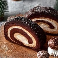 獨家限定聖誕款!貳樓推出期間限定「甘納許榛果樹輪聖誕捲」,吃完一條就真的少一條了。
