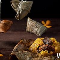花雕雞入粽!台北美福大飯店推出「星馬入味美國牛小排、廣東花雕雞粽」,將再次征服老饕們愛嚐鮮的嘴。