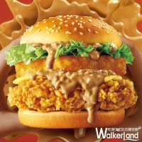 花生醬加量42%!肯德基再推出超人氣「花生熔岩咔啦雞腿堡」,加碼限定新品「荷蘭醬橘瓣脆腿堡、法式蕈菇咔啦雞腿堡」搶攻炸雞控的味蕾。