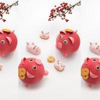萌豬甜點來了!法籍甜點主廚博豊安打造全新「萌豬甜點」,要讓台北君悅酒店今年春節萌萌的。
