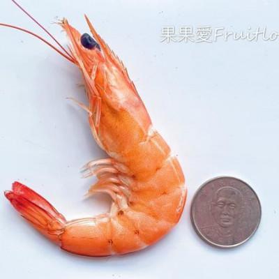 鮮甜好吃的鮮蝦~一盤100兩盤只要150元  還有超大盤的蚵仔煎 ~ 清手工虱目魚丸 蚵仔寮漁港
