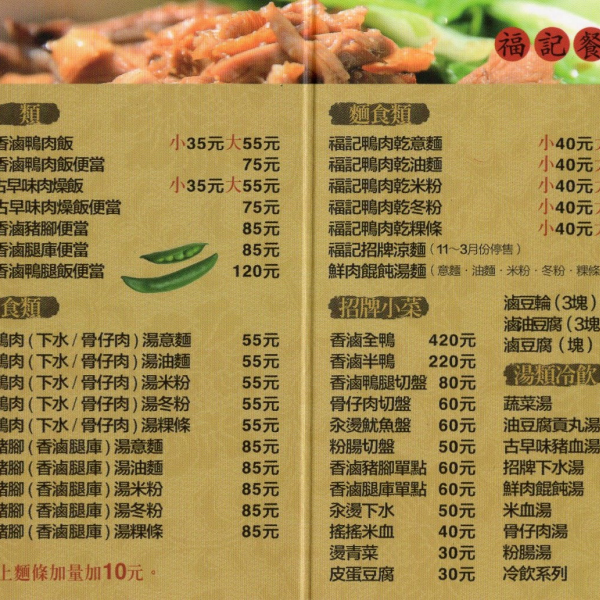 台中市 美食 攤販 台式小吃 福記香滷鴨肉飯