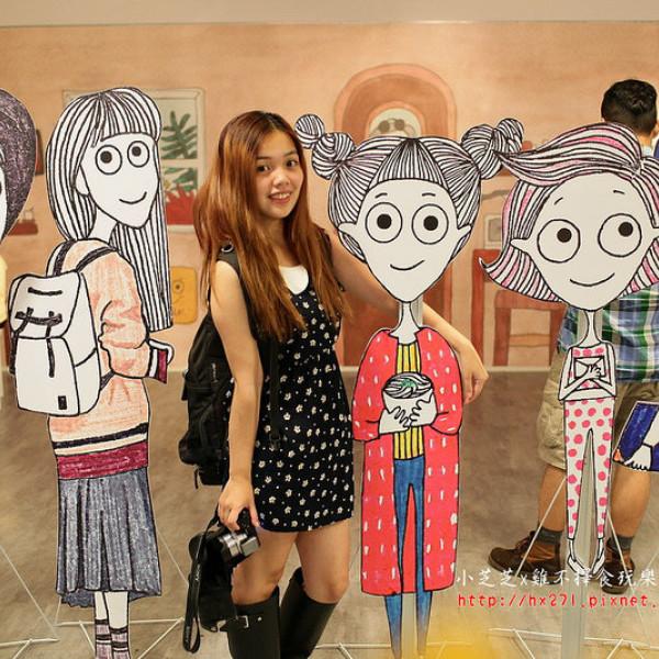 台中市 觀光 觀光景點 LINE原創貼圖插畫展