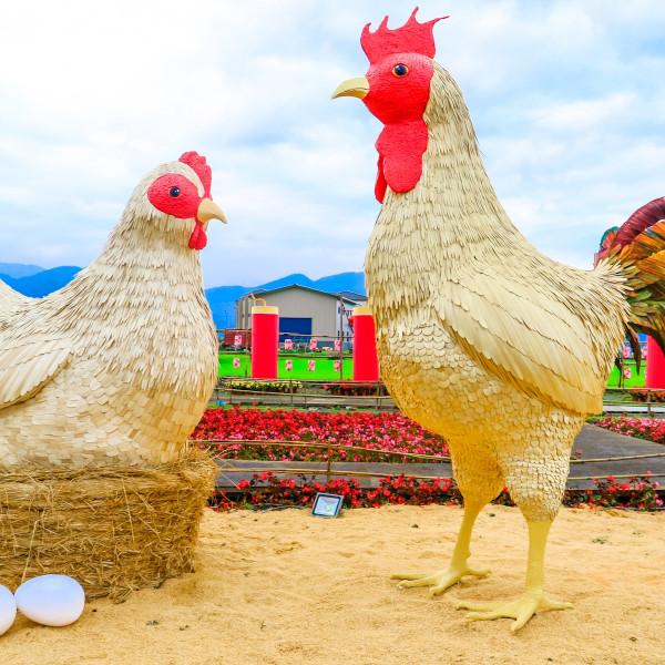 宜蘭縣 觀光 觀光景點 宜蘭三星金雞報喜春節佈置景點