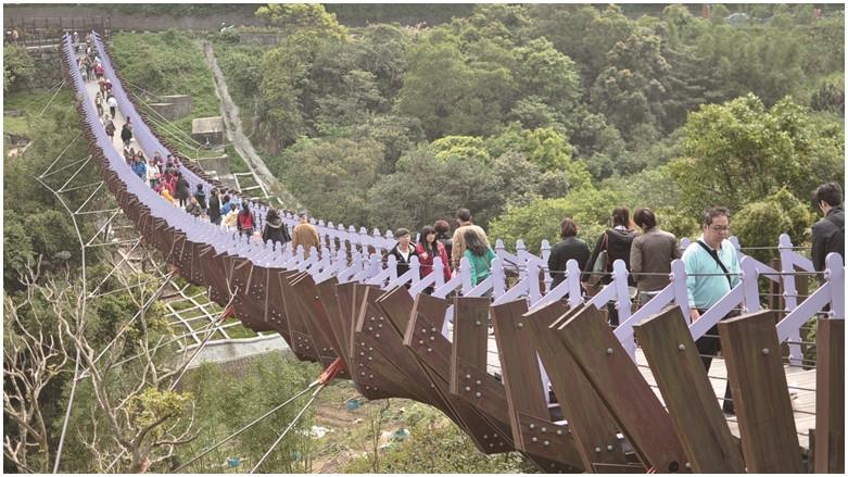 台北市內湖區 白石湖吊橋