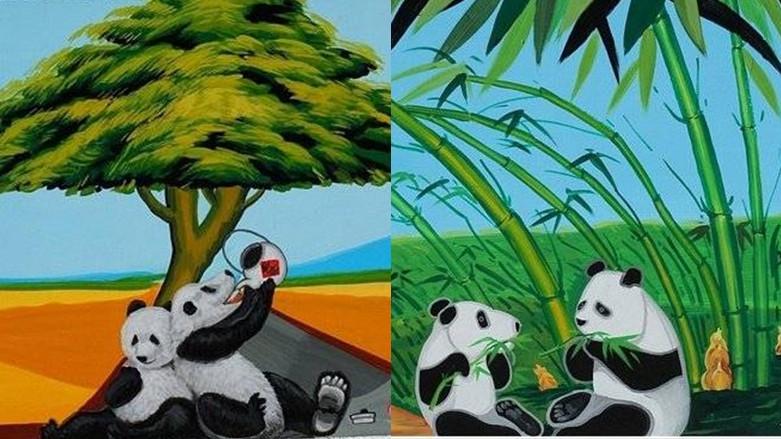 雲林縣斗南鎮 石龜溪の貓熊