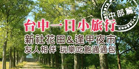 台中新社花田&逢甲夜市一日小旅行 玩樂吃飽通通包!