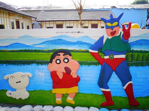 绘村 小小兵 哆啦A梦 喜洋洋 海绵宝宝 卡通图案 推荐景点图片
