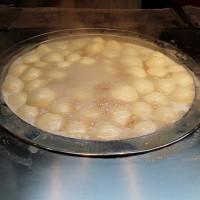 台北市美食 餐廳 飲料、甜品 甜品甜湯 林振櫂燒麻糬(寧夏夜市林記燒麻糬) 照片
